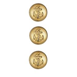 Metal Button 5/8'' Anchors Away Gold