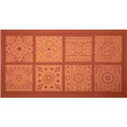 "Katmandu Window Pane 24"" Panel Orange"