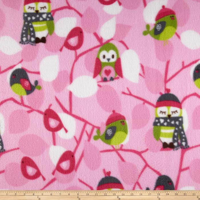 Fleece Owls Pink