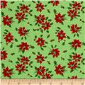 Greetings Poinsettia Light Green