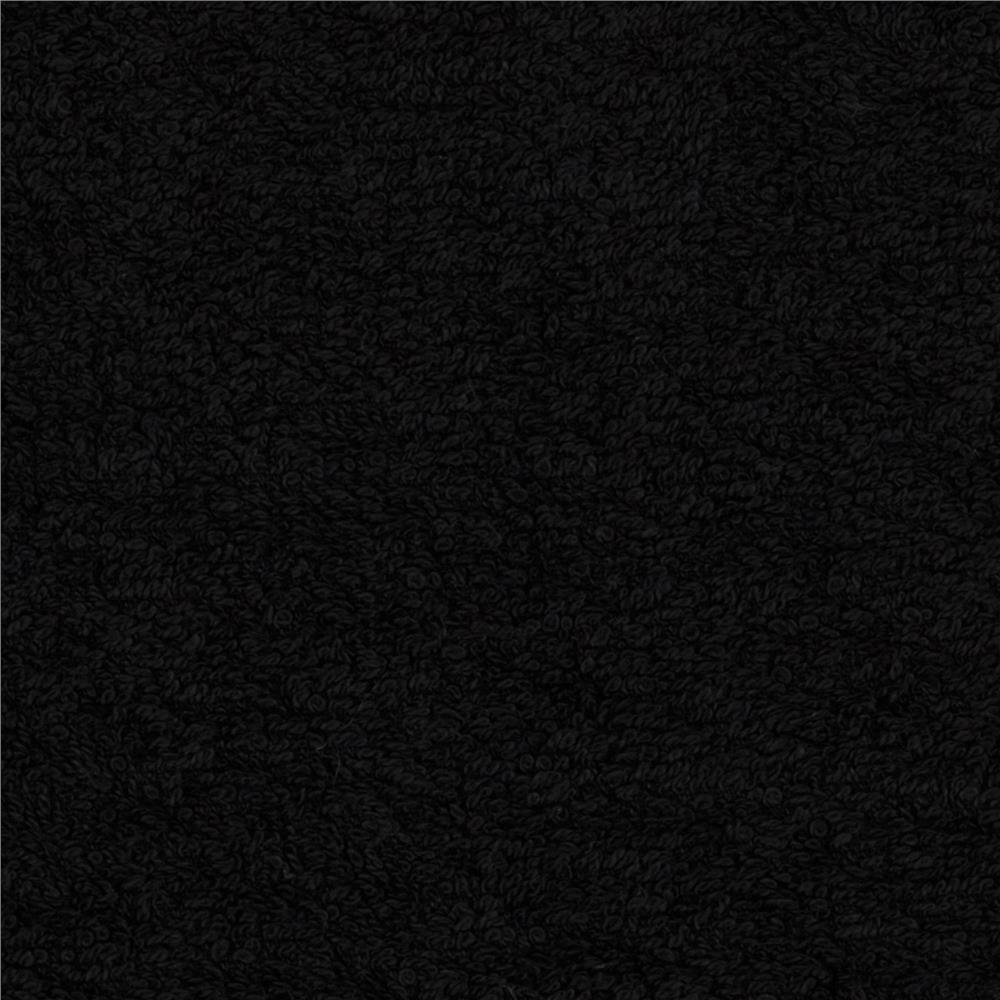 Terry cloth cuddle black discount designer fabric for Fabric cloth material