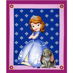 Disney Sofia the First Panel Fuchsia