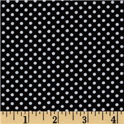 Kanvas Green Farms On the Dot Black Fabric