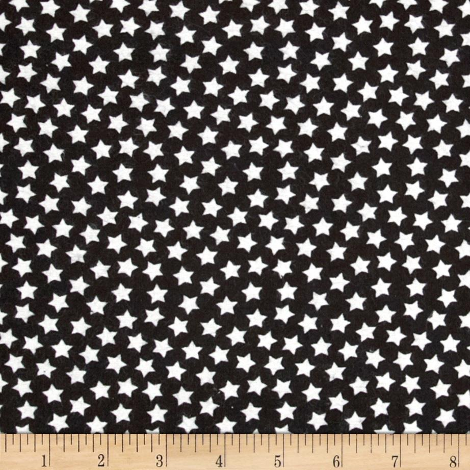 Camelot Flannel Stars Black