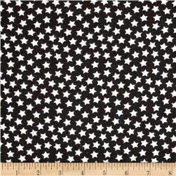 Camelot Flannel Stars Black Fabric