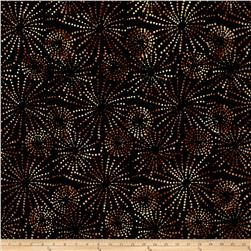 Batavian Batiks Sparklets Black/Brown