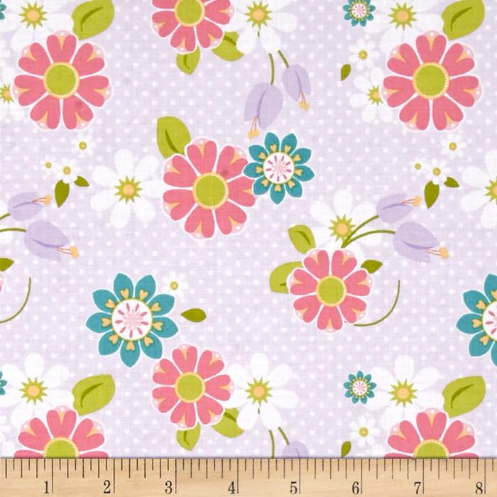 Riley Blake Dream and a Wish Floral Purple