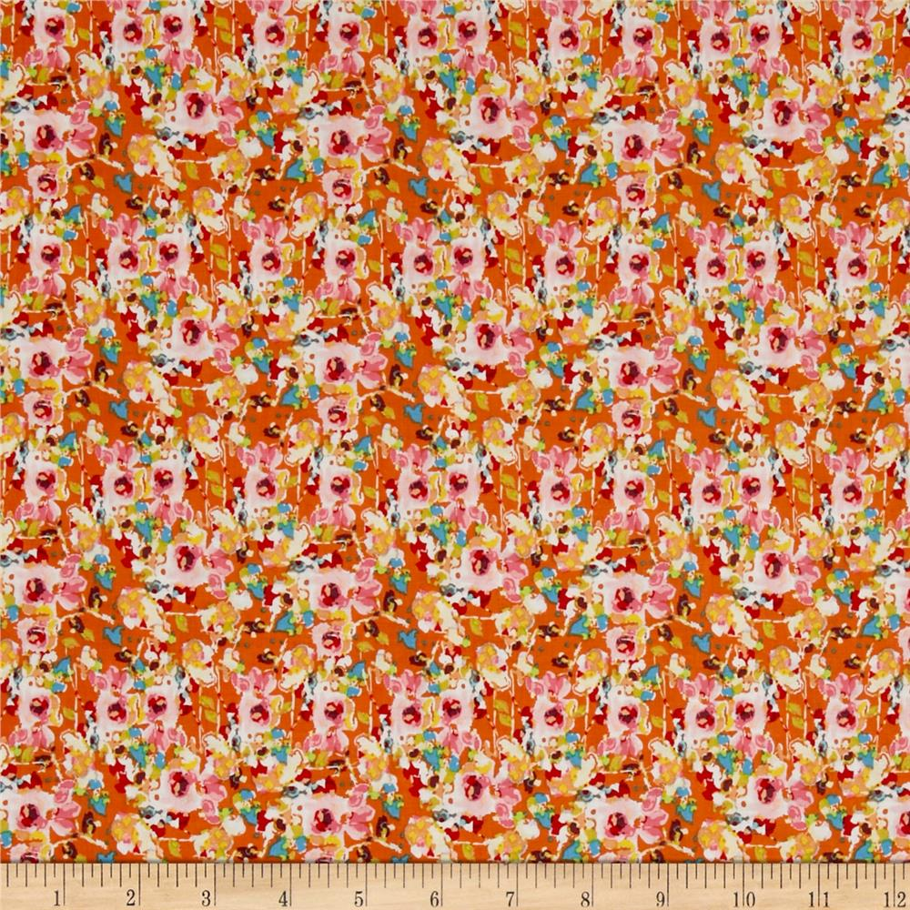 Riley Blake Bittersweet Floral Orange