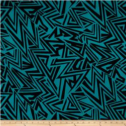 Chiffon Glass Shards Black/Turquoise