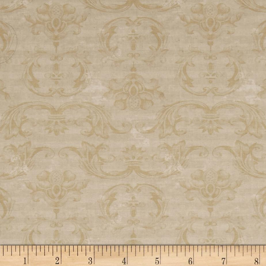 From The Chateau Striped Damask Cream