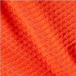 Liver Pool Double Knit Diamond Shapes Embossed Orange