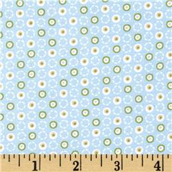 Timberland Critters Dancing Dots Blue Fabric