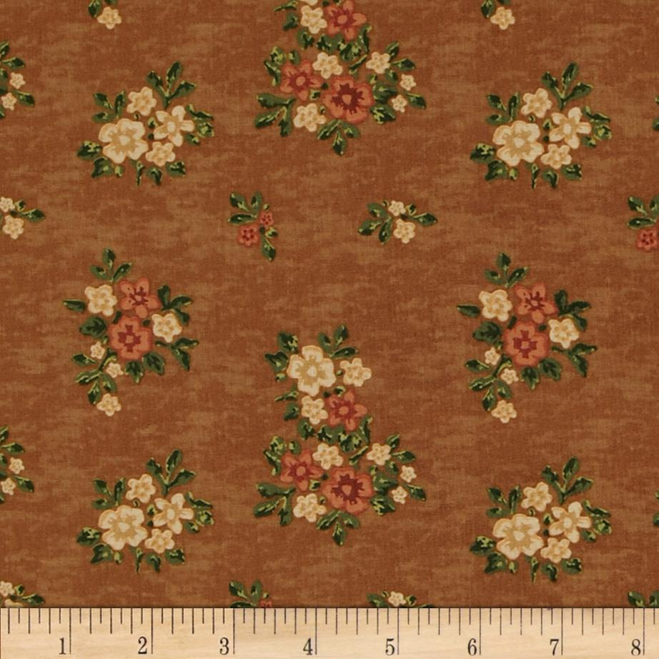 Country Harvest Floral Bouquet Brown