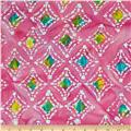 Indian Batik Diamond Pink
