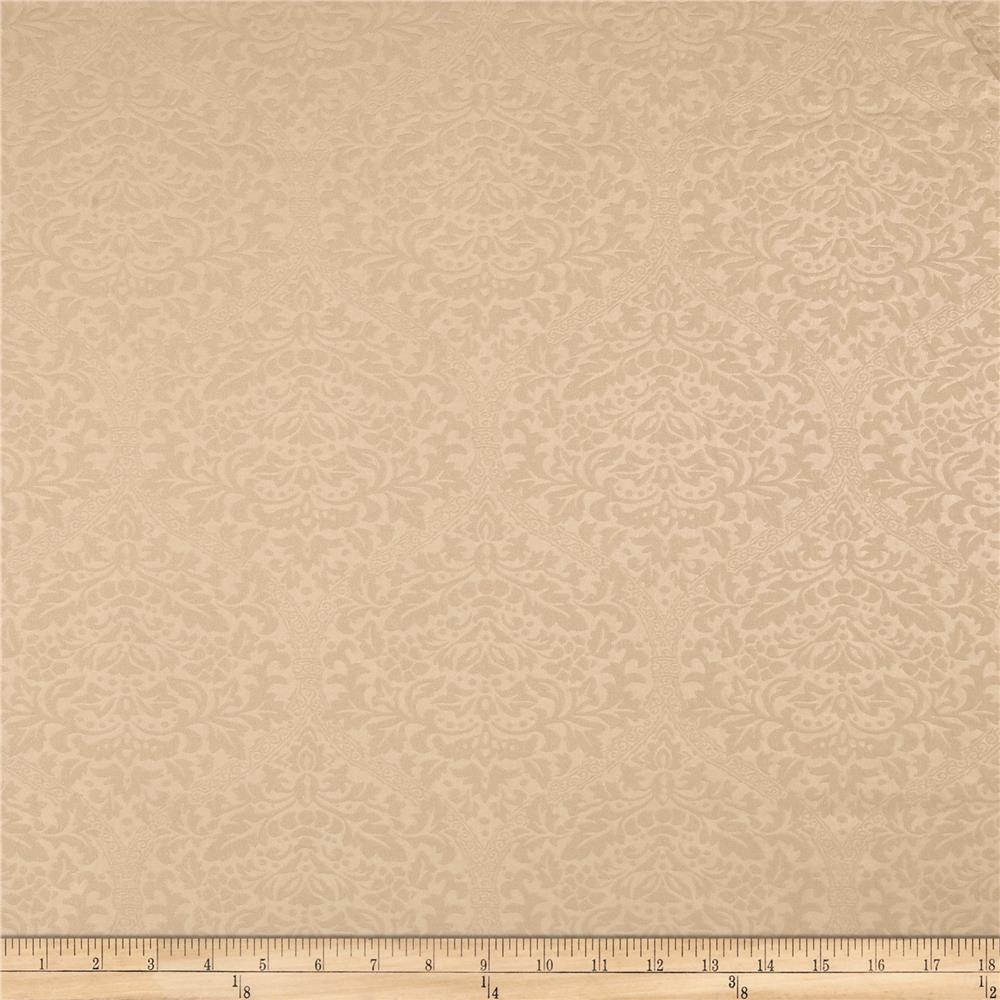 Techno Embossed Double Knit Damask Taupe