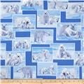 On The Wild Side Flannel Polar Bears Blue
