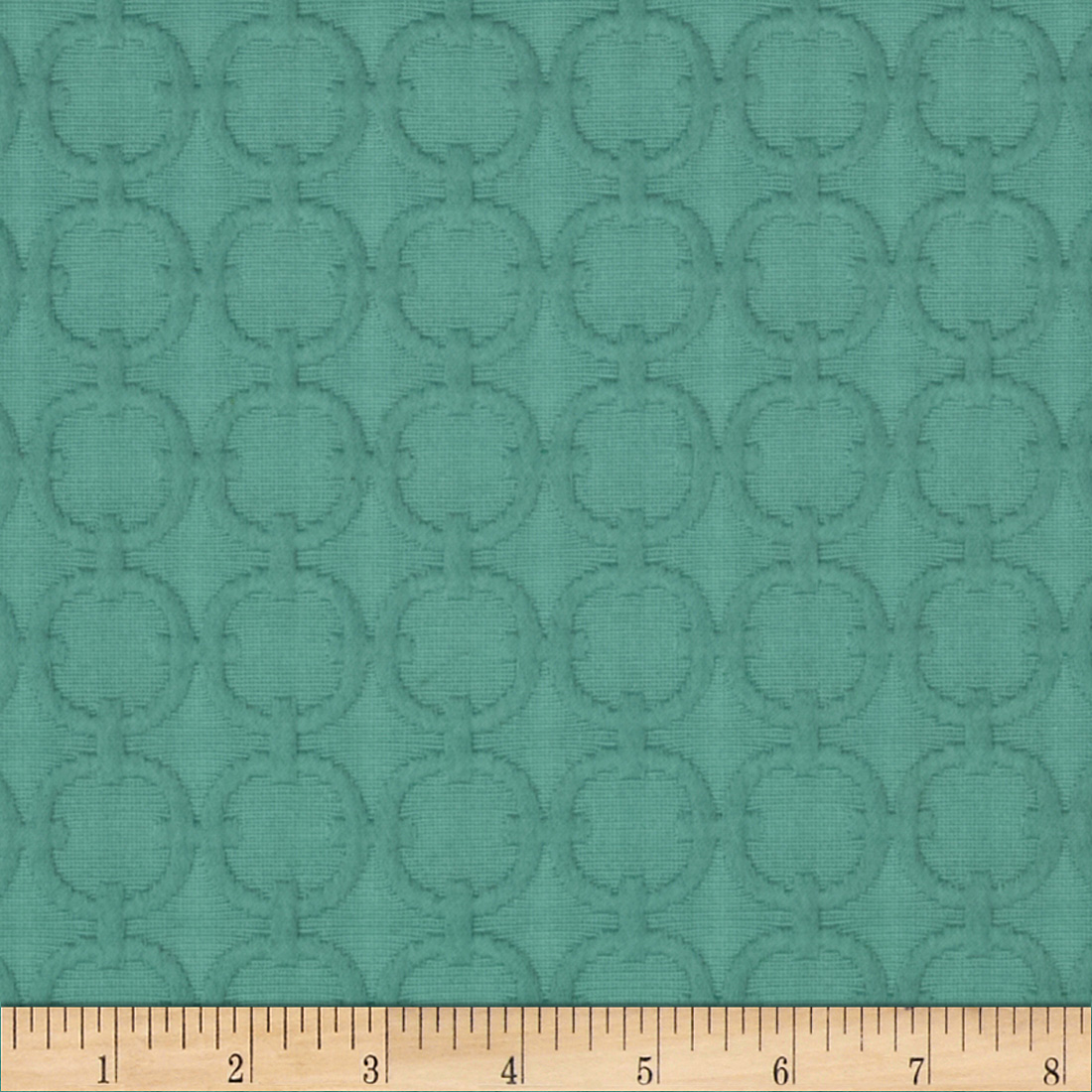 Waverly Full Circle Matelasse Turquoise Fabric