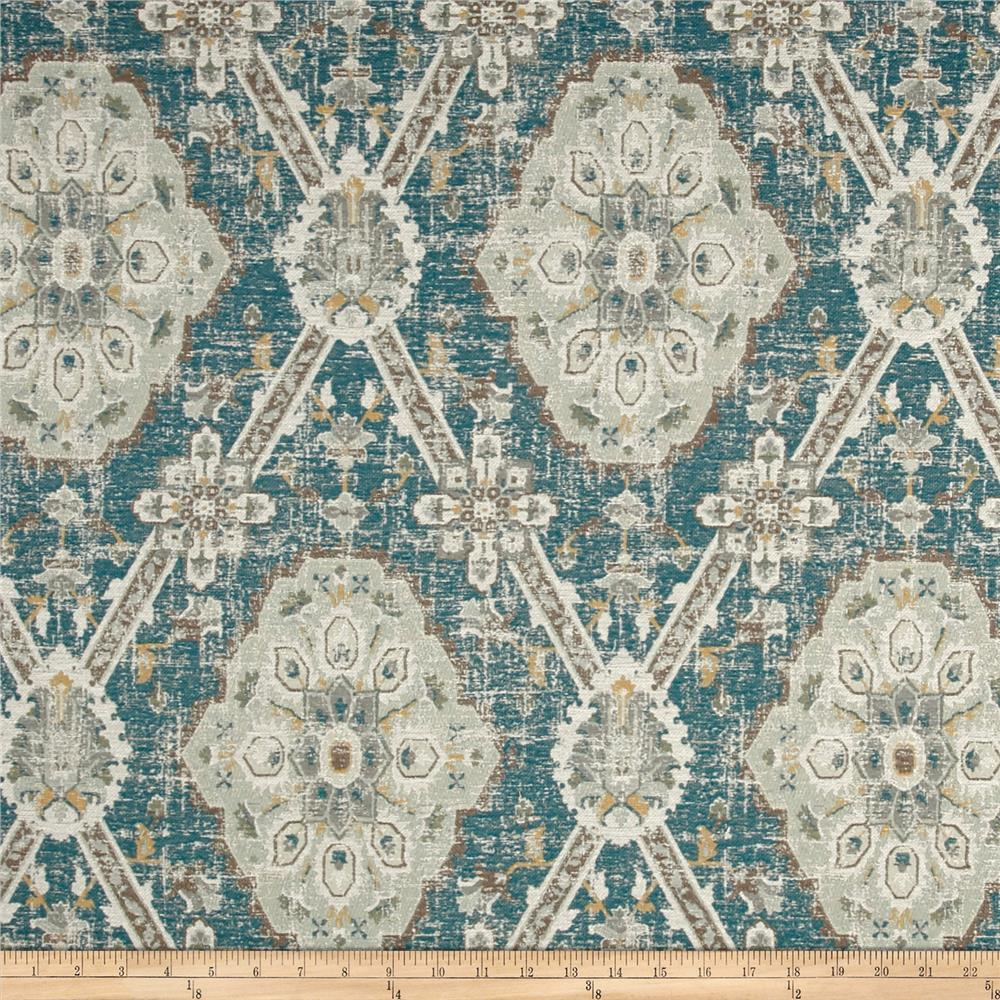 P/Kaufmann Carpet Heirloom Jacquard Peacock Teal