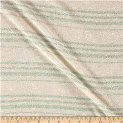 Sweater Knit Stripe Metallic Sage