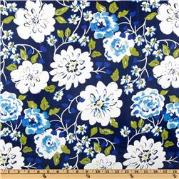 Tea Garden Laminated Cotton Ying Ming Floral Navy