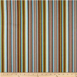 Ansley Home Decor Cotton Duck Stripe Brown Multi