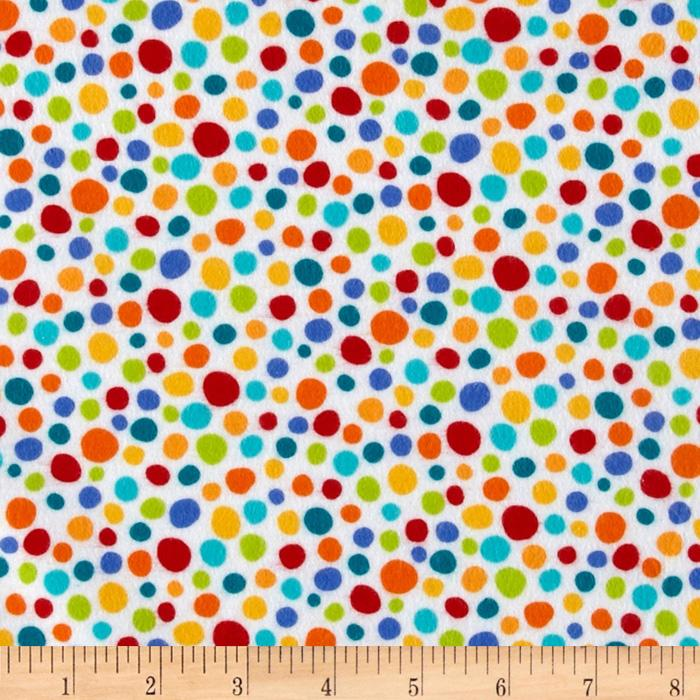 Michael Miller Flannel Little Spots Multi
