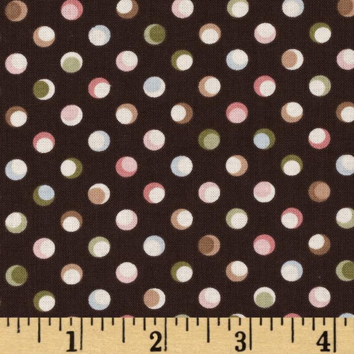 Antoinette Michele's Dots Brown