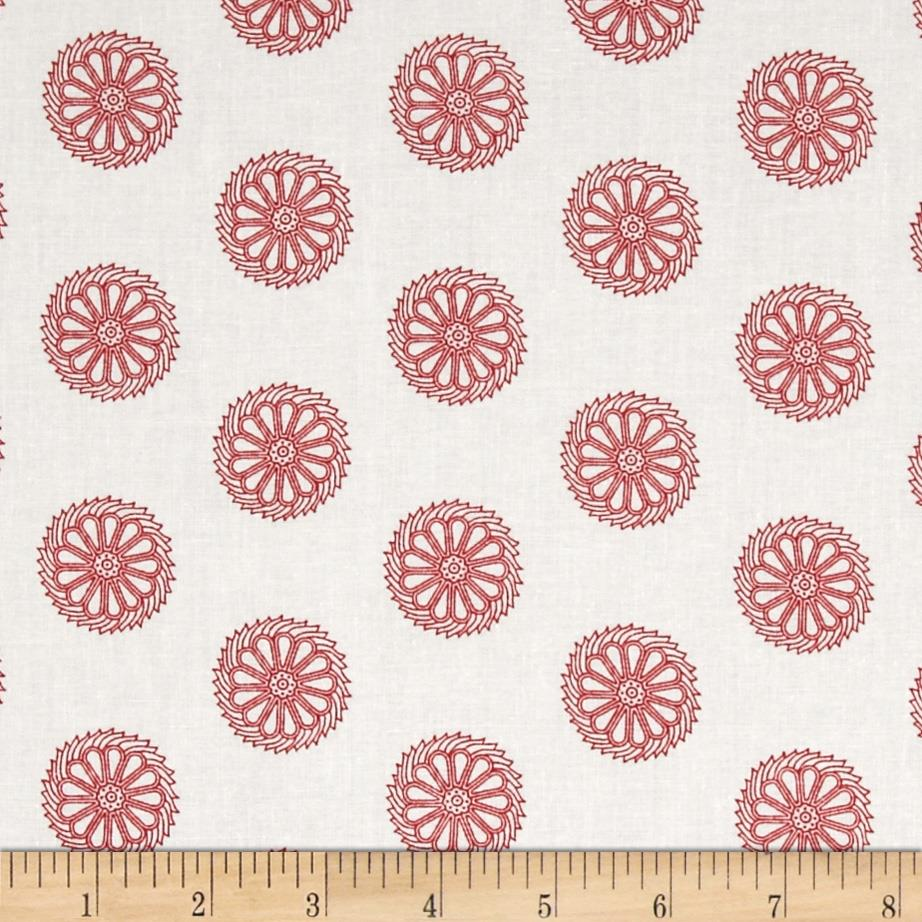 Bombay Pinwheels Cream/Red