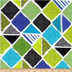 Kanvas What a Whirl Diamond Patch Turquoise/Lime