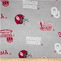 Collegiate Fleece University of Oklahoma Heather Grey