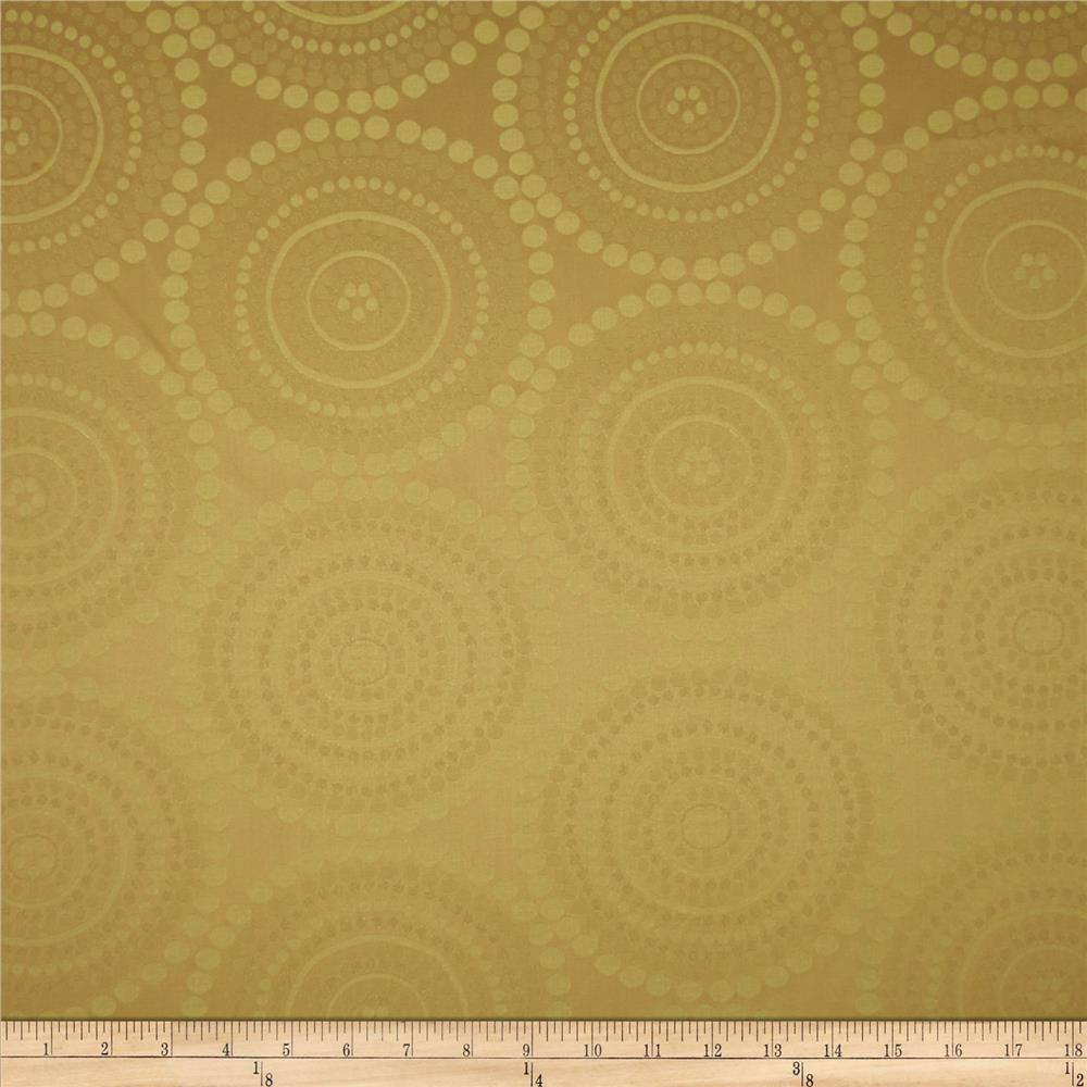 Robert Allen Promo Dotted Circles Jacquard Gold Luck