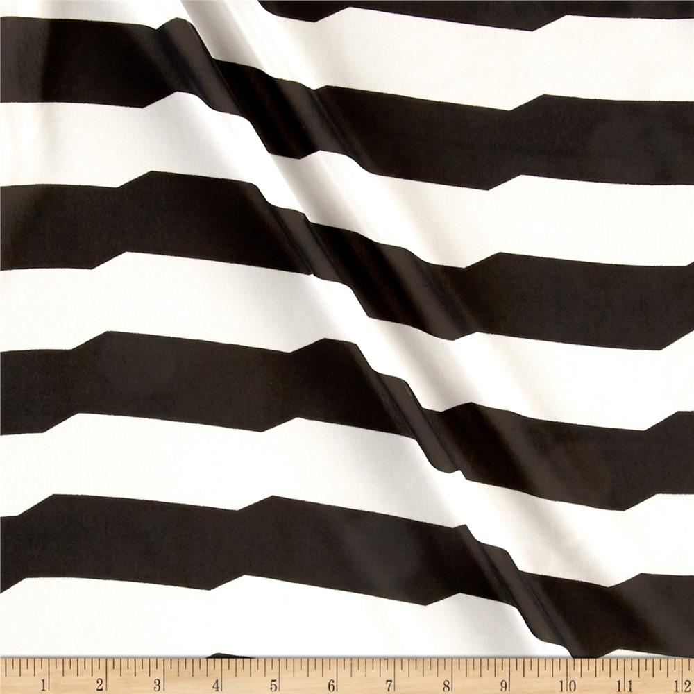 Chiffon Uneven Arranging Stripes Black