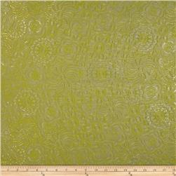 Ramtex Faux Leather Retro Floral Grass