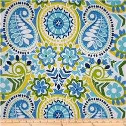 Waverly Paisley Prism Twill Bluebell Fabric