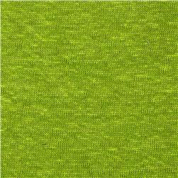 Capri Linen Jersey Knit Lime Fabric