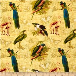 Tropical Travelogue Exotic Plumage Gold