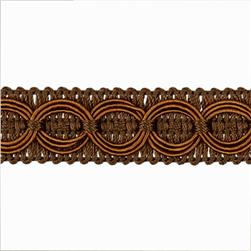 Collette Woven Braid Circle Trim Cocoa