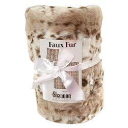 Faux Fur Sadie Throw Kit Beige