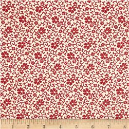 Moda Pondicherry Phulkari Pearl/Red