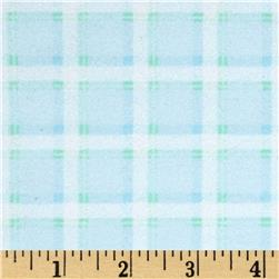 Kanvas Bunny Hop Flannel Soft Plaid Baby Blue
