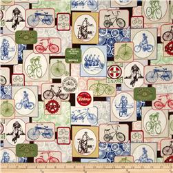Vintage Bicycles Allover Bicycle Labels