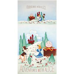 Adventures with Alice Vintage Panel