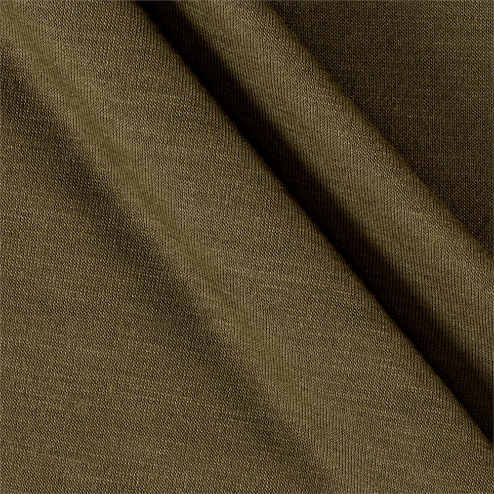 Polyester Jersey Knit Solid Light Olive Fabric