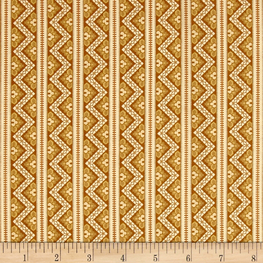 Crystal Farm Chevron Sunkiss Fabric