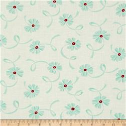 Moda Hello Darling Ribbon Cream - Aqua