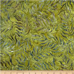 "Timeless Treasures 106"" Batik Quilt Back Sea Fern Peridot"