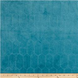 Regal Rowen Quilted Velvet Turquoise