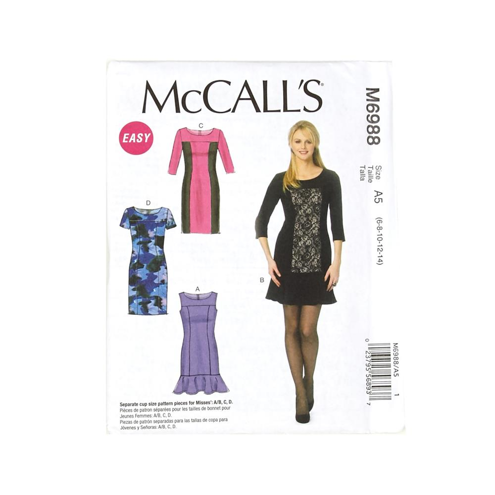 McCall's Misses' Dresses Pattern M6988 Size A50