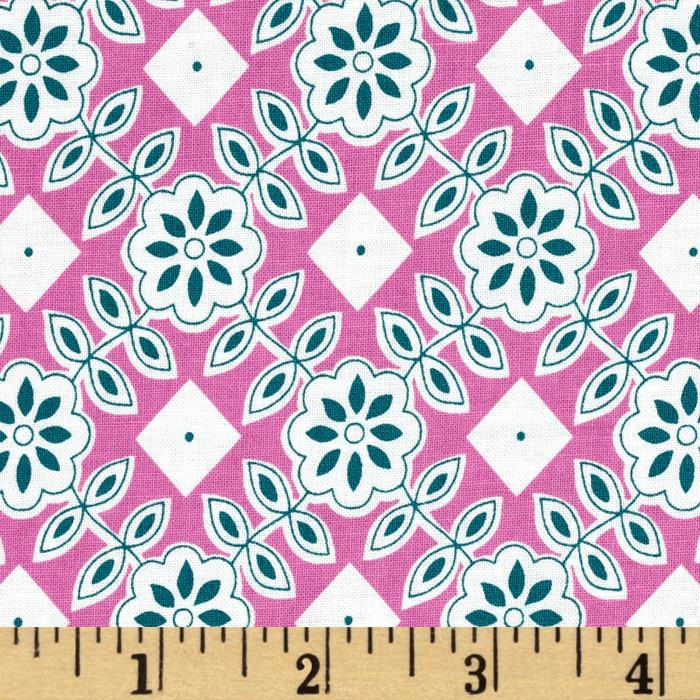 Downtown Floral Diamond Pink