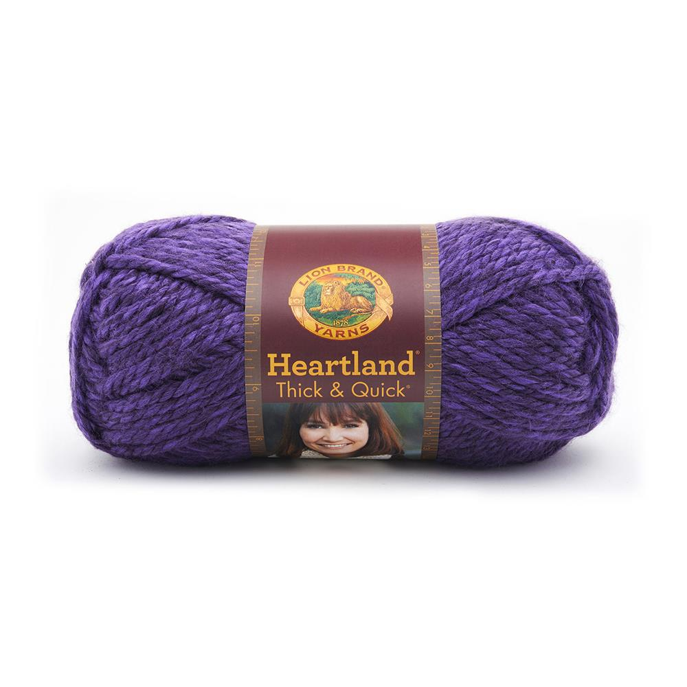 Lion Brand Heartland Thick & Quick Yarn Hot